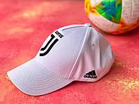Бейсболка спортивная  с логотипом Ювентус для  мужчин и женщин Белая