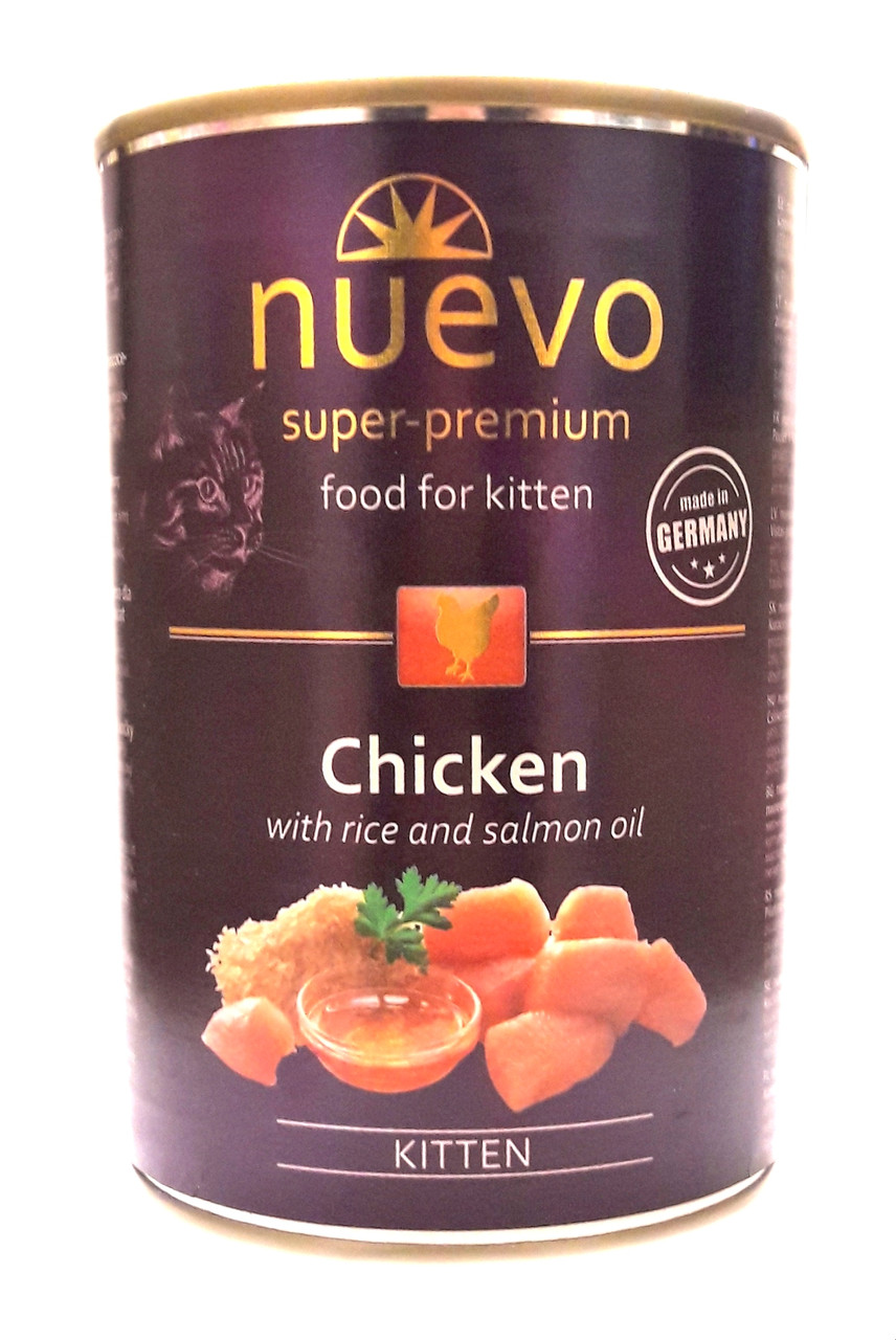 Консервы для котят Нуэво Nuevo Kitten с курицей 400 г