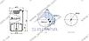 Пневморессора со стаканом в сборе (сталь) MAN TGA TGX TGS 4705N1P03 (1шп.М12+штуцер М16) \81436006039 \ SP 554705-K, фото 2