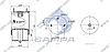 Пневморессора со стаканом в сборе (сталь) 4718NP01 VOLVO FM12,FH12 (с металл.стаканом,2шп.M10 смещены 1отв.штуц.M16) (d290x400) \20554759 \ SP, фото 2