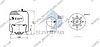 Пневморессора со стаканом в сборе (сталь) MERCEDES Actros,Atego Conti 4757NP29, 4757NP09, 4757NP02 (d296x346,1) \9743200417 \ SP 554757-K09, фото 2