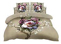 Комплект постельного белья Микроволокно HXDD-491 M&M 0924 Бежевый, Розовый, Кремовый