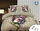 Комплект постельного белья Микроволокно HXDD-491 M&M 0924 Бежевый, Розовый, Кремовый, фото 2