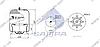 Пневморессора со стаканом в сборе (сталь) 4759NP21 MERCEDES Actros (1 штуцер М24х1.5мм по центру) \9423204421 \ SP 554759-K, фото 2