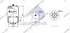 Пневморессора со стаканом в сборе (сталь) MERCEDES Actros, Atego 4838NP01 (штуцер М24х1.5мм по центру) (d310x385) \9463200421 \ SP 554838-K, фото 2
