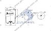 Пневморессора без стакана BPW 4881NP02 (2 шп. M12, 1 отв.штуц. M22х1.5мм) (d311x420) \0542941010 \ SP 554881, фото 2