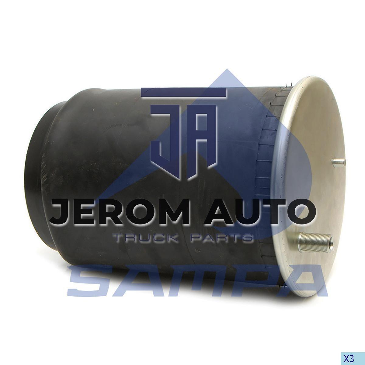 Пневморессора со стаканом в сборе (сталь) 4912NP10, Renault Magnum, Premium (1 шп. M12,1 шп.-шт. M1624х1.5мм) (d310x347) \5010557355 \ SP 554912-K01