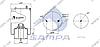 Пневморессора со стаканом в сборе (сталь) Renault 4929NP02 (d280x280) \5010557623 \ SP 554929-K, фото 2