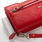 Женское портмоне Dr.Bond  (19,5x10,5x3 см) красный, фото 3