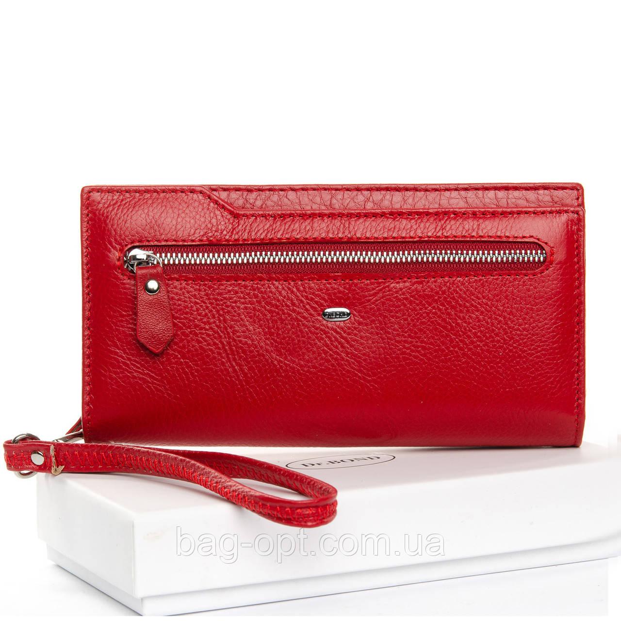 Женское портмоне Dr.Bond  (19,5x10,5x3 см) красный