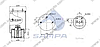 Пневморессора со стаканом в сборе (пластик) (d286x360 mm) 4961NP02 \0542943270 \ SP 554961-KP, фото 2