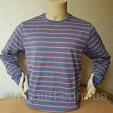 Фуфайка (футболка с длинным рукавом) мужская на байке ХЛОПОК  УЗБЕКИСТАН, фото 2
