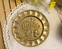 Винтажная настенная бронзовая тарелочка, бронза, Германия, 14,5 см, фото 1