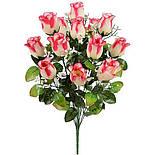 Букет роза бутон кашка, 54см (10 шт в уп), фото 2