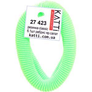KATTi Резинка для волос 27 423 большая упругая ребристая color ярко салатовая