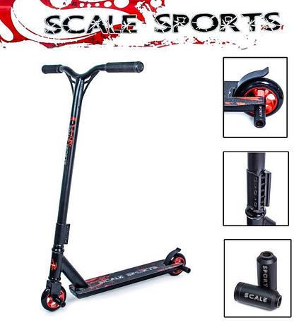 Трюковый самокат Scale Sports STORM черный, фото 2