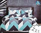 Комплект постельного белья Микроволокно HXDD-744 Зигзаг M&M 7749, фото 2