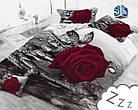 Комплект постельного белья Микроволокно HXDD-598 M&M 7817 Красный, Серый, фото 2