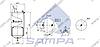 Пневморессора со стаканом в сборе (сталь) (кронштейн +штуц. / 1 шп.) VOLVO 6608NP01 (d240x320) \20582215 \ SP 556416-K, фото 2