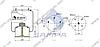 Пневморессора со стаканом в сборе (сталь) 725NP03, ROR, GIGANT(2 шп. M12,1 штуц. M22х1.5мм) (d327x483) \00166252 \ SP 55725-K03, фото 2