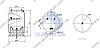 Пневморессора со стаканом в сборе (пластик) DAF CF, XF, 792NP01 (3шп. M10мм,1 штуцер M16х1.5мм) \1698436 \ SP 55792-KP01, фото 2