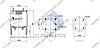 Пневморессора со стаканом в сборе (сталь) SAF/Trailor/МАЗ-5440,6430/ROR, 813MB (4 шп. M12, 1отв. штуц. M22х1.5мм) (d305x420) \1322720 \ SP 55813-K, фото 2