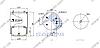 Пневморессора со стаканом в сборе (сталь) DAF 95, 836M2K1 (металл.стакан 1отв.M16мм, 3 шп., 2шт. M16х1.5мм без отбойника) (d300x315) \0388167 \ SP, фото 2