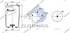 Пневморессора без стакана BPW 881MB/O (2 шп. M12 смещены,1 отв.штуц. M22х1.5мм) (d311x523) \0542940010 \ SP 55881, фото 2
