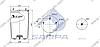 Пневморессора без стакана 942MB/O, BPW 36-1 (2 шп. M12 смещены,1 отв.штуц. M22х1.5мм) (d311x595) \0542940050 \ SP 55942, фото 2