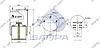 Пневморессора со стаканом в сборе (сталь) 942MB, BPW 36-1 (2 шп.+возд. / 12 отв.) (d340x490) \0542941690 \ SP 55942-K, фото 2