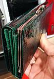 Женские кожаные лаковые кошельки Mario Dion на магните с монетницей снаружи, фото 2