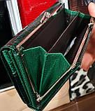 Женские кожаные лаковые кошельки Mario Dion на магните с монетницей снаружи, фото 3