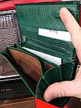 Женские кожаные лаковые кошельки Mario Dion на магните с монетницей снаружи, фото 4