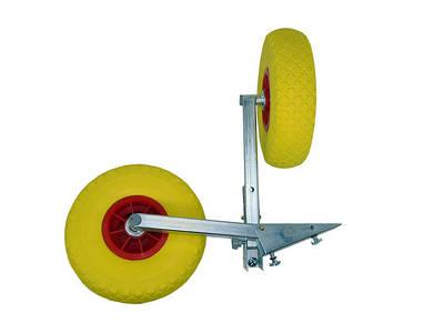 Транцевые колеса с автоматической фиксацией