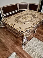 Скатерть (клеенка)для стола на тканевой основе золото ,120*150 см