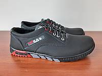 Чоловічі кросівки чорні зручні прошиті ( код 1106 ), фото 1