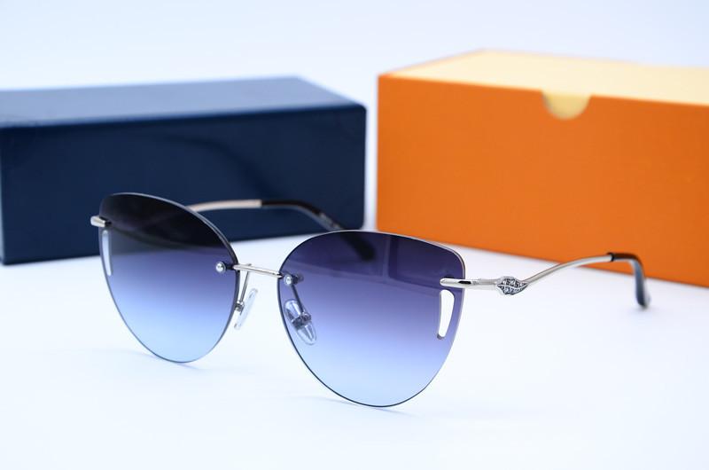 Винтажные солнцезащитные очки антибликовые Бабочка 31511 с100