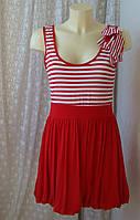 Платье женское модное лето вискоза стрейч мини бренд Boohoo р.48