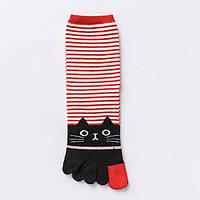 Носки с пальцами Кот Баюн Kiki Sox 37-39 Разноцветный