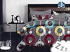 Комплект постельного белья Микроволокно HXDD-758 M&M 0725 Красный, Желтый, Серый, фото 2