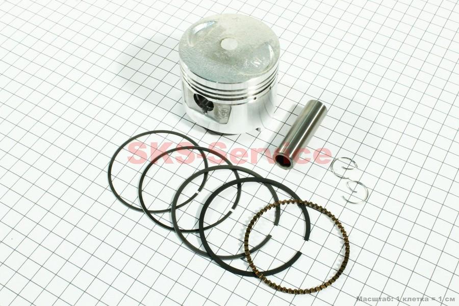 Поршень, кольца, палец к-кт 150cc 62мм STD (палец 15мм)