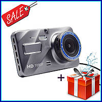 Автомобильный видеорегистратор DVR A10 Full HD 4 WDR Premium Class на 2 камеры, с камерой заднего вида, Акция
