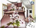 Комплект постельного белья Микроволокно HXDD-752 С цветочным узором M&M 0947 Бежевый, Кремовый, Коричневый, фото 2