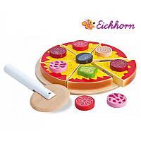 Детская игрушечная пицца нарезная деревянная Eichhorn 3730 для детей, фото 1