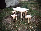 Табурет ясиневий обідній (450х320х320мм), фото 5
