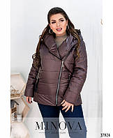 Тёплая куртка большого размера с  застёжкой-молнией  Разные цвета