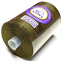 Нить армированная Хаки 28/2 (425тон) полиэфирное волокно 2500м Kiwi