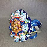 Букет з цукерок Сюрприз чупик кіндер-сюрприз чупа-чупси подарунковий вітальний їстівний, фото 2
