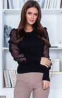 Женский свитер черный 62050