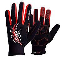 Велорукавички 6607 Чорно-Червоні Xxl R144465